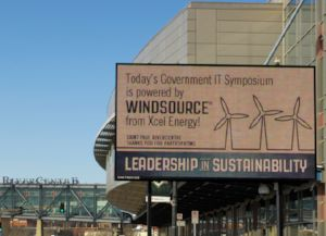 windsource sign on marquee